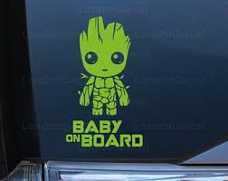 Baby Groot Decal Etsy