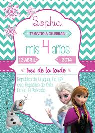 Invitacion Cumpleanos Invitaciones Cumpleanos Frozen Tarjetas