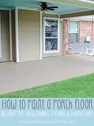 how to paint a porch floor porch