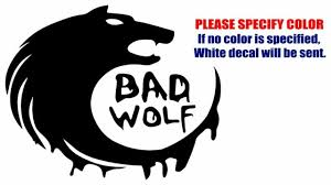 Bad Wolf Dr Who Funny Vinyl Decal Car Sticker Window Bumper Laptop Netbook 11 For Sale Online