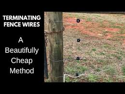 End Post And Corner Post Fence Termination Youtube