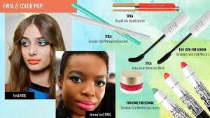 fall 2016 makeup trends color pop a