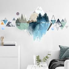 Wall Decal Room Wall Sticker Mountain Wall Decals Mountains Wall Decal Modern Home Decor Wall Art Geometrical Mountain Wall Sticker In 2020 Home Wallpaper Tropical Home Decor Wall Decals