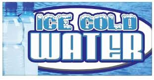 Amazon Com Ice Cold Water Concession Decal Bottled Menu Sign Stand Home Kitchen