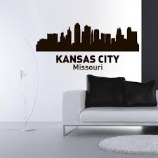 Wall Vinyl Decal Sticker Decal Sign Town City Skyline Kansas City Miss Stickersforlife