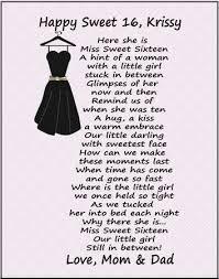 sweet 16 poems