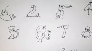 Hướng dẫn vẽ các con vật từ số đếm 1- 10 đơn giản - Nhím - YouTube