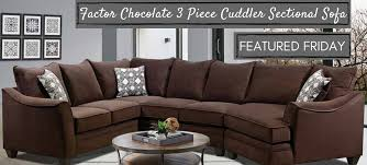 get comfy on a cuddler sectional sofa