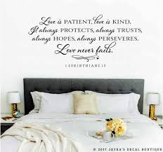 Love Is Patient 1 Corinthians 13 Love Never Fails Wall Decal Love Is Kind Wall Decals Murals Home Living