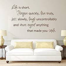 Amazon Com Vinyl Wall Decal Life Is Short Forgive Quickly Mark Twain Quote Words Motivational Art Vinyl Decor Sticker Br2267 Home Kitchen