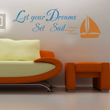 Inspiration Wall Sticker Let Your Dreams Set Sail Quote Vinyl Baby Bedroom Decor For Sale Online