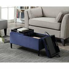 storage ottoman coffee table blue