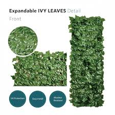 Garden Decors Depot Ecoopts Artificial Ivy Leaf Expandable Stretchable Privacy Fence Screen Single Side Leaves And Vine Decoration For Outdoor Garden Yard 4 Pack Faux Ivy Expandable Stretchable Faux Ivy