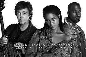 paul mccartney rihanna and kanye west to perform fourfiveseconds