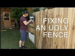Covering Up An Ugly Fence With Feather Edge Youtube