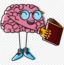 brain clipart - brain reading a book PNG image with transparent ...
