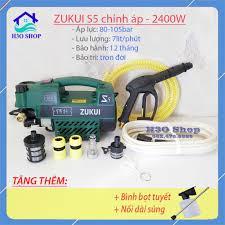 Máy Rửa Xe Mini ZUKUI S5 màu xanh - 2400W - Có Chức Năng Chỉnh Áp - Hàng  Chính Hãng - Tặng bình bọt xà bông