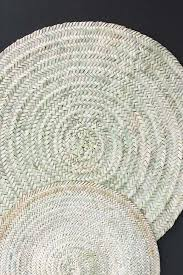moroccan round hand woven jute rug