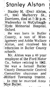 "Stanley Montgomery ""Doc"" Alston: Obituary (part one) - Newspapers.com"