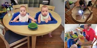 how to diy twins high chair table