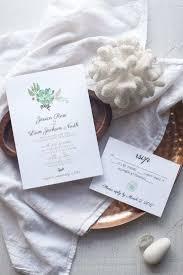 succulent wedding invitation template