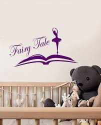 Vinyl Wall Decal Ballet Dancer Ballerina Fairy Tale Open Book Library Wallstickers4you