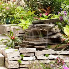 backyard waterfall family handyman