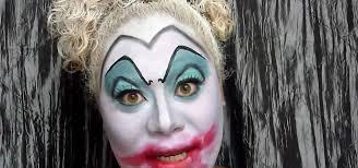 scary clown makeup look