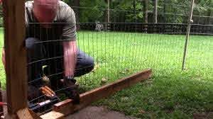 Building A Temporary Puppy Fence Youtube
