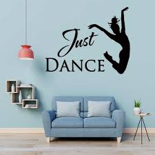 Fun Wall Stickers Dance Sticker Girl Text Vinyl Wall Decal For Kids Rooms Vinyl Girl Dancer Sticker Decor Decals Mural Wall Stickers Aliexpress