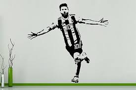 Lionel Messi Football Player Argentina Children S Bedroom Decal Wall Art Sticker