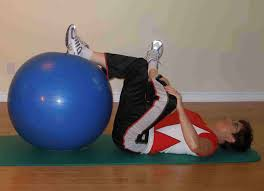 list of exercise ball stretches