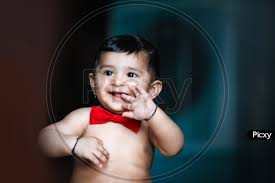 indian cute baby boy with smiling face