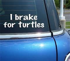 I Brake For Turtles Sticker Car Decal Cute Animal Gift Tortoise Slow Love Fy030