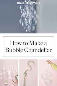 bubble chandelier diy chandelier