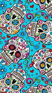 18etf3f sugar skull wallpaper for