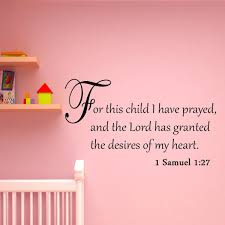 For This Child I Have Prayed Bible Wall Quotes Decal