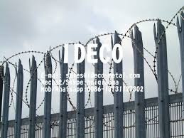 Anti Climb Steel Palisade Fences Anti Intruder Palisade Fencing System Boundary Wall Spike Fence
