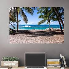 Costa Rica Beach Palm Trees Wall Decals Peel Stick Re Movable Wall Art Zapwalls