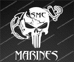 Punisher Skull Window Decal Vinyl Graphic Us Marines Logo Veteran Semper Fi