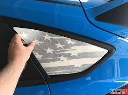 Focus Flag Window Decals 2012 2018 Ford Focus Rs St Tfb Designs