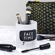 trouva ceramic makeup brush holder
