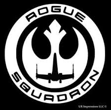 Rogue One Squadron Star Wars Sticker Vinyl Decal 6 White Ebay