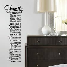 Roommates Peel And Stick Decor Wall Decals Family Quotes 34 Pieces Walmart Com Walmart Com