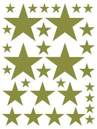 Olive Green Star Wall Decal Star Wall Sticker Whimsidecals