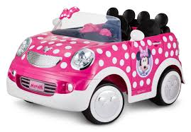 Disney Minnie Mouse Hot Rod Coupe Ride On Toy By Kid Trax 12 Volt Pink Walmart Com Walmart Com