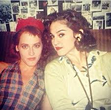 Madonna and Lori Petty while filming Penny Marshall's A League Of ...