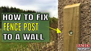 How To Fit A Fence Post To A House Wall Youtube