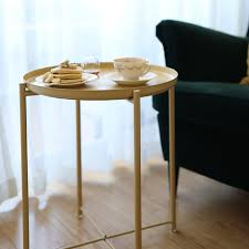 bedside table tray round