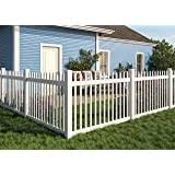 Amazon Com Outdoor Essentials Pro Series Evanston 4 Ft X 6 Ft White Vinyl Spaced Picket Fence Panel Garden Outdoor